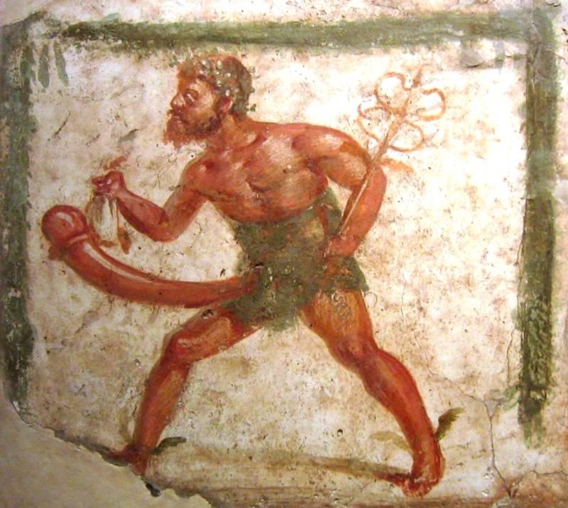 Wine Jug With Sex Art Priapus Fertility God