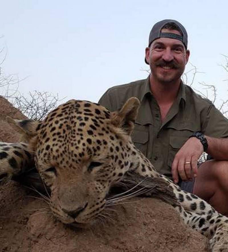 Blake Fischer With Dead Leopard
