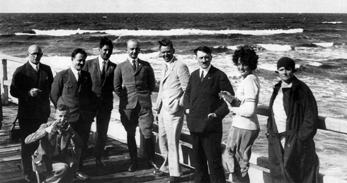 Hitler With His Family On Dock
