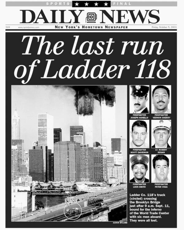 Fdny Ladder 118 : ladder, Story, Behind, Famous, Photo, Ladder