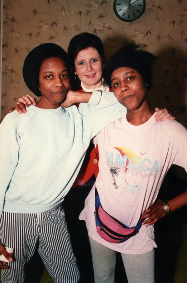 June And Jennifer Gibbons With Marjorie Wallace