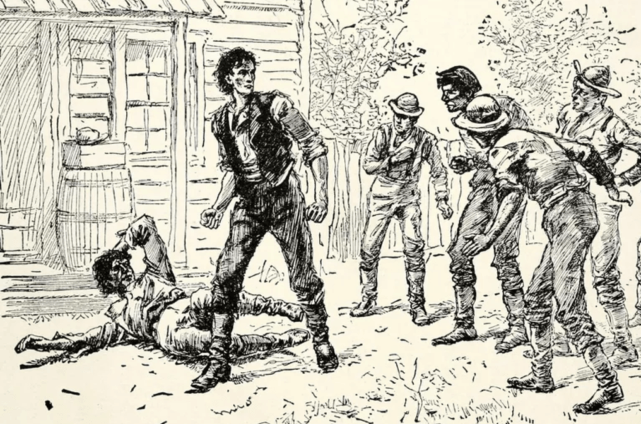 Abraham Lincoln Fighting Jack Armstrong