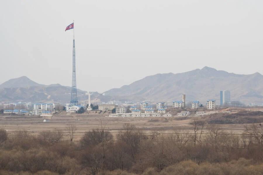 Kijong Dong Village And Flagpole