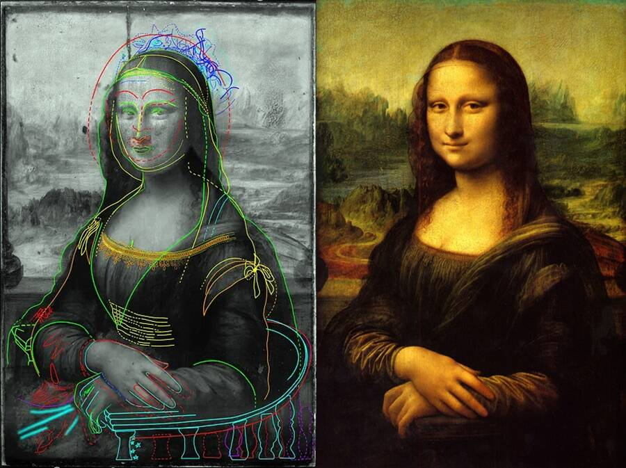 Mona Lisa Hidden Drawing