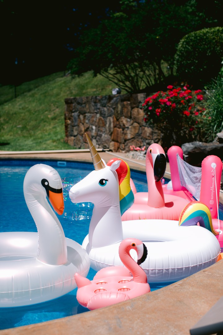 Flamingo, Swan, Unicorn Pool Floats by Sunnylife