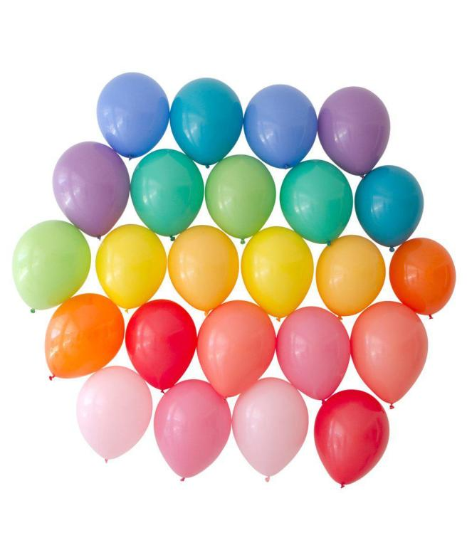 Oh Happy Day is one of my Most Loved Sites for Children's Parties. Pictured: Colorful rainbow balloons