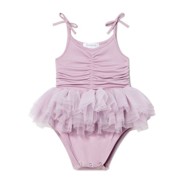 Mauve tutu onesie for baby by i love plum
