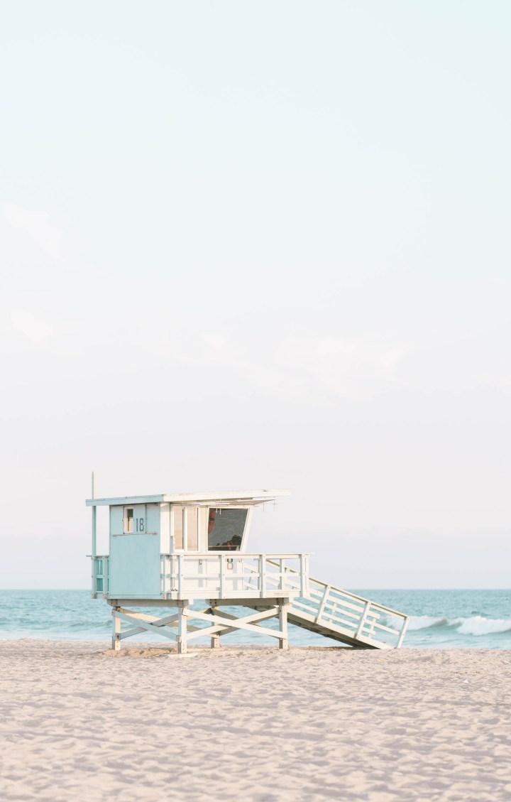 Lifeguard deck at beach