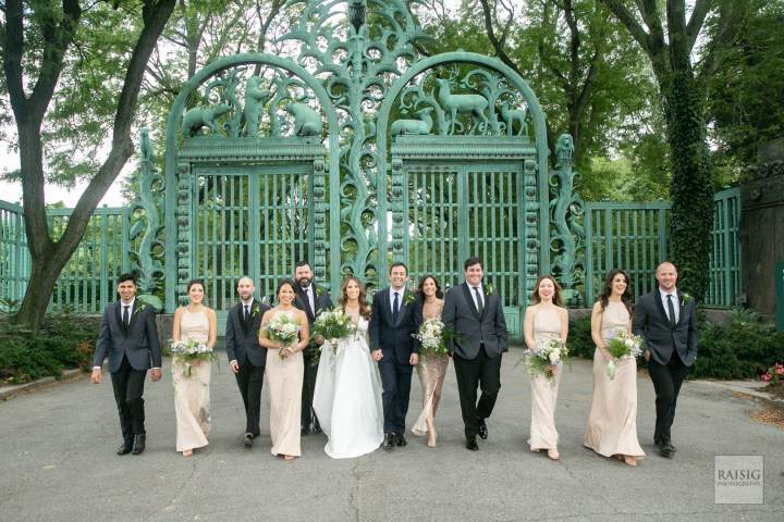 Rainey Gates Wedding Bridal Party at the Wildlife Conservation Society Events and Catering