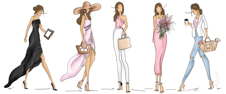 All the Best Moments fashion illustrations