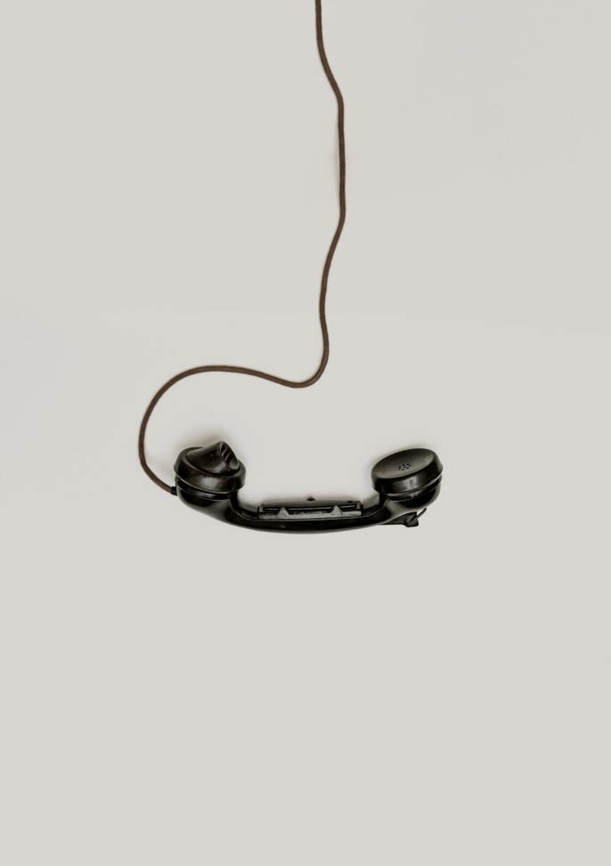 Black vintage telephone