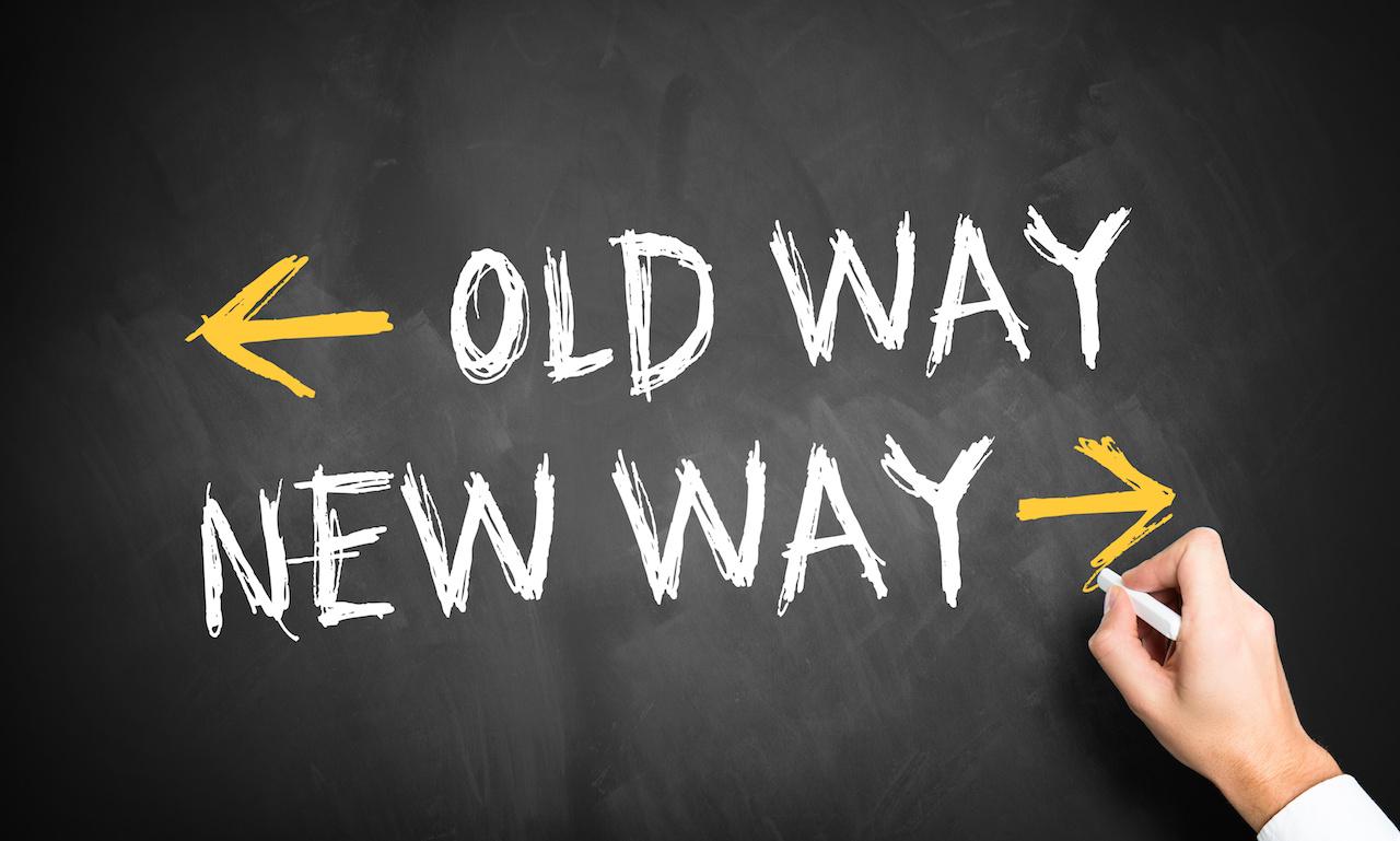 medium resolution of old way versus new way