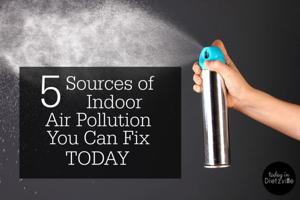 5 Sources of Indoor Air Pollution You Can Fix TODAY | Did you know that the air inside your home can actually be more toxic than the air outside? Nowadays, people spend a lot more time indoors than our grandparents and great grandparents did. Possibly even up to 90% of a person's time is spent indoors if they are homebound, have a job that requires them to work indoors, or are home with small children much of the time. It's not necessary to constantly expose yourself and your family to indoor air pollution. Once you know the sources and possible consequences, you can take steps to reduce or remove them from your home TODAY. | AllTheNourishingThings.com