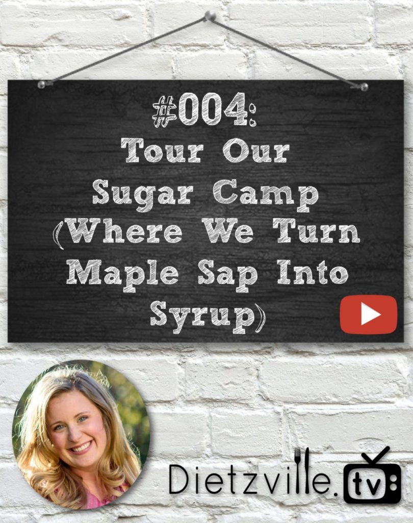 Dietzville TV #004: Tour Our Sugar Camp (Where We Turn Maple Sap Into Syrup) | In this episode of Dietzville.TV, I take you on a tour of our sugar camp! What's a sugar camp? It's the place in the woods where we turn maple sap into delicious maple syrup! | Dietzville.tv