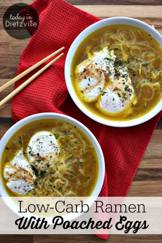 Low-Carb Ramen With Poached Eggs | It saddens me that the bricks of noodles with the flavor packets and this soup are actually known by the same name... Let me introduce you to something you may not have known existed: Real Food Ramen with bone broth, anti-inflammatory spices, and low-carb noodles! | AllTheNourishingThings.com