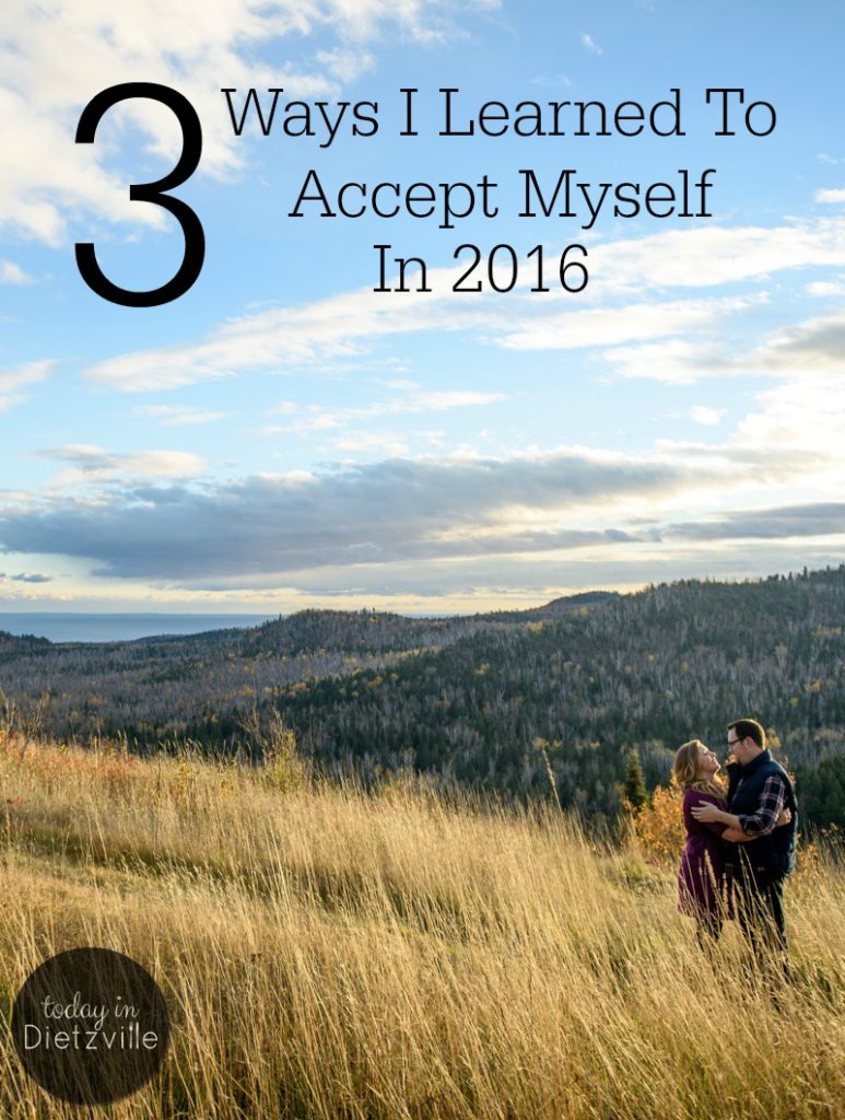 3 Ways I Learned To Accept Myself In 2016 | I felt like I had been waiting until I arrived at certain goals before I could accept myself. So I was really, really hard on myself and placed crazy expectations on myself -- that led to constant self-rejection. Here's how I learned to accept myself in spite of all that. | AllTheNourishingThings.com