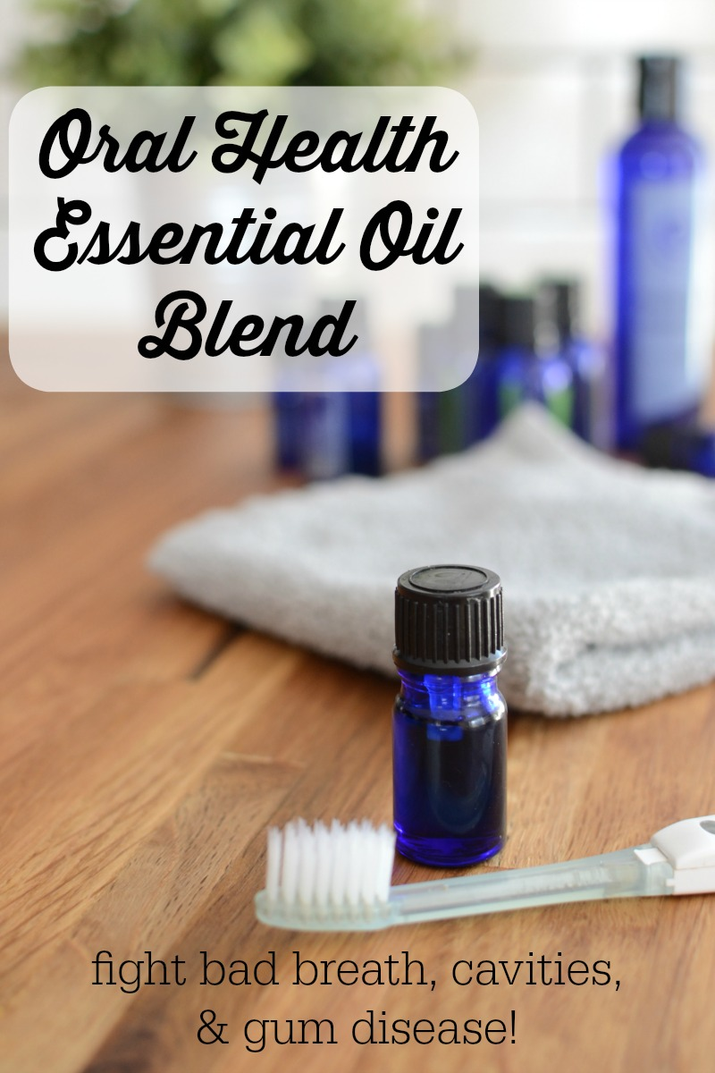 Oral Health Essential Oil Blend {fight bad breath, cavities, & gum disease!} | Tooth pain, caries, cavities, receeding gums, sensitivity, and periodontal disease are caused by infection in the mouth. Kill that infection with natural, holistic, antibacterial essential oils! Just 1 drop of this blend on your toothbrush every time you brush! | AllTheNourishingThings.com