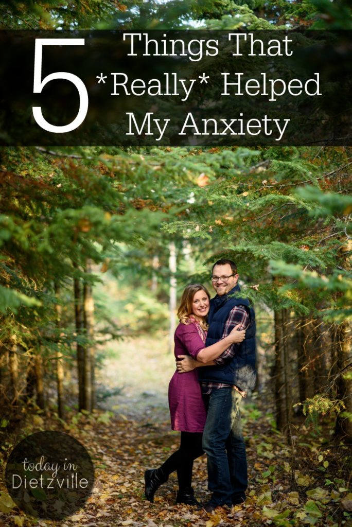5 Things That *Really* Helped My Anxiety | Insomnia, heart palpitations, irrational thoughts, second-guessing, a knot in my throat... Anxiety. My anxiety isn't paralyzing me anymore because I have been using these 5 things that really help! This is a holistic approach to relieving the symptoms of anxiety -- physically, emotionally, and mentally! | AllTheNourishingThings.com