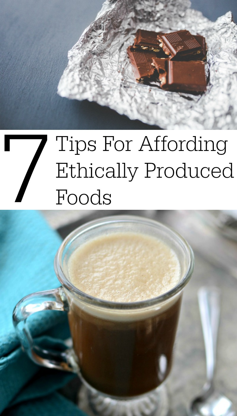You're aware of the unethical practices of child labor and forced labor in various food industries. You want to make a change and buy Fair Trade foods for your family... but, it's so dang expensive! How do you afford Fair Trade?! Here are my 7 tips for affording ethically produced foods, like cocoa, coffee, tea, bananas, and sugar.