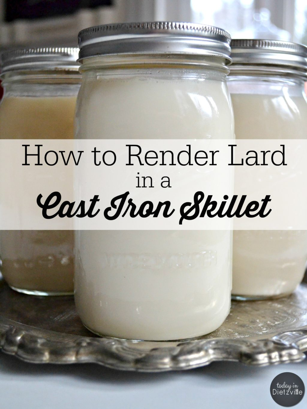 """How to Render Lard in a Cast Iron Skillet 
