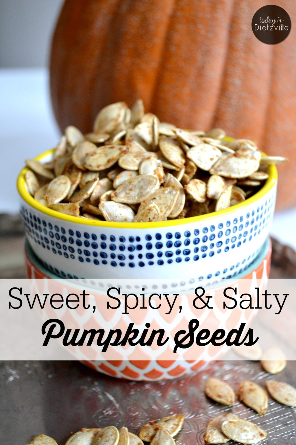 Sweet, Spicy, & Salty Pumpkin Seeds | Pumpkin seeds make an excellent, quick snack for adults and kids alike. Just a handful supplies you with a healthy dose of magnesium and immune-boosting zinc. These tasty, crispy pumpkin seeds satisfy all the cravings: a little bit sweet, a little bit spicy, and a little bit salty. | AllTheNourishingThings.com