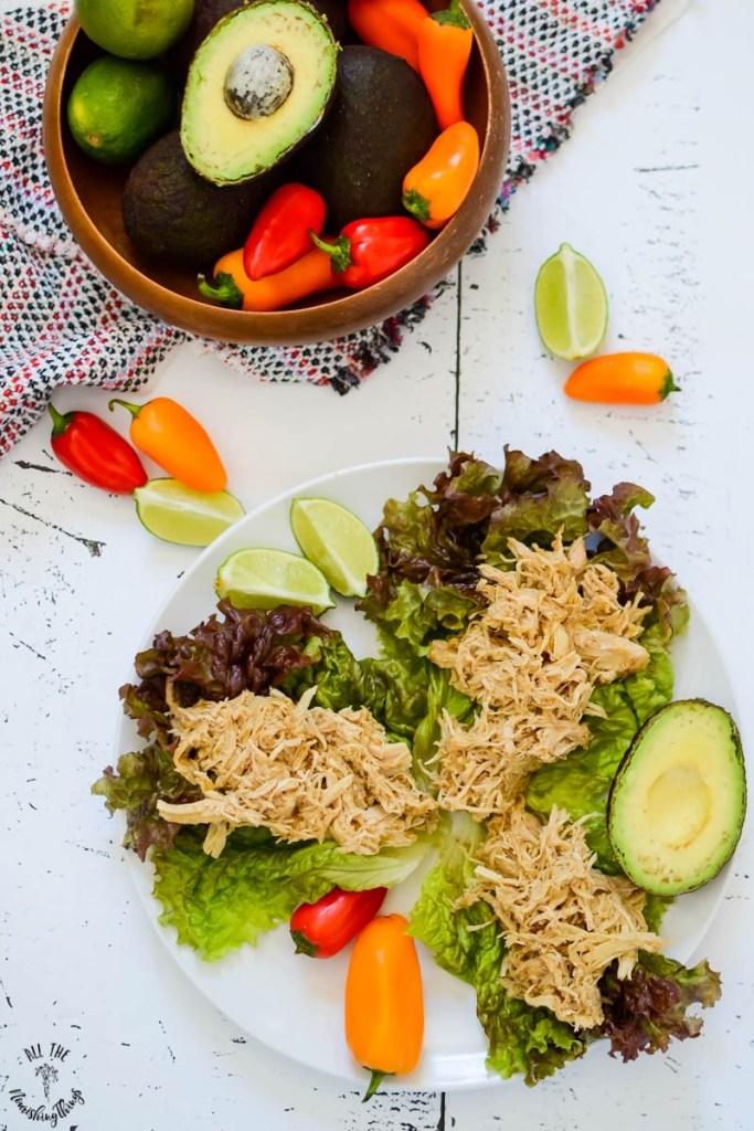 Super Simple Instant Pot Salsa Verde Chicken — Slow Cooker, too! (paleo, keto, Whole30)