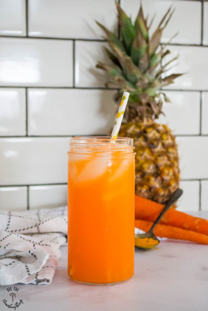 The BEST Period Drink Ever (Pineapple Carrot Turmeric Spritzer — hormone-balancing, anti-inflammatory elixir)