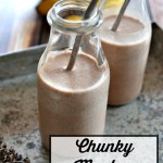Here's a stevia-sweetened Chunky Monkey Milk made with raw milk and with a dairy-free option. Kids can make this quick breakfast or snack all by themselves! So easy, quick, and nourishing, full of protein, and sugar-free, thanks to stevia!