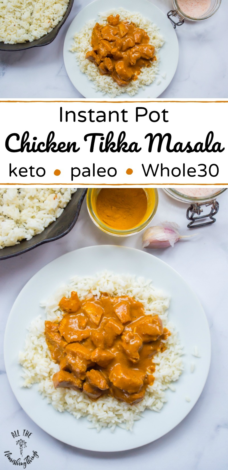 Instant Pot Chicken Tikka Masala Paleo Keto Whole30 Thm S