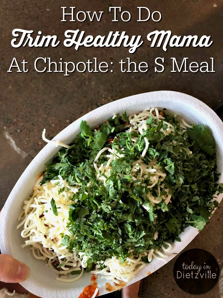 How To Do Trim Healthy Mama At Chipotle: The S Meal