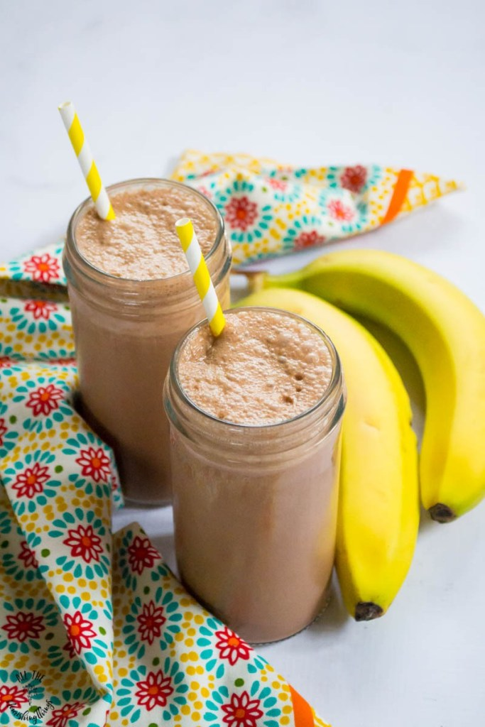 Healthy Chunky Monkey Milkshake (stevia-sweetened, dairy-free option)