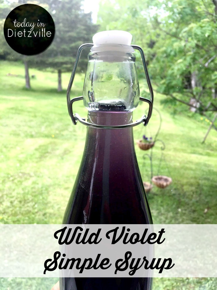 How To Make Wild Violet Simple Syrup