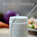 Creamy Probiotic Ranch Dressing | Do you have some plain yogurt in your fridge and a few herbs and spices in your pantry? If so, you have everything you need to make a quick probiotic ranch dressing! You'll throw the packets of ranch dressing mix in the trash after you taste this dressing. | AllTheNourishingThings.com