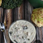 Low-Carb Zuppa Toscana {dairy-free | potato-free | THM:S} | Zuppa Toscana is one of my FAVORITE meals. Then I quit eating potatoes (a staple ingredient). Once I learned how to make a potato-free, low-carb Zuppa, it was happily back in my life and with more nutrition than ever! | AllTheNourishingThings.com