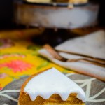 slice of paleo instant pot pumpkin pie on brown plate