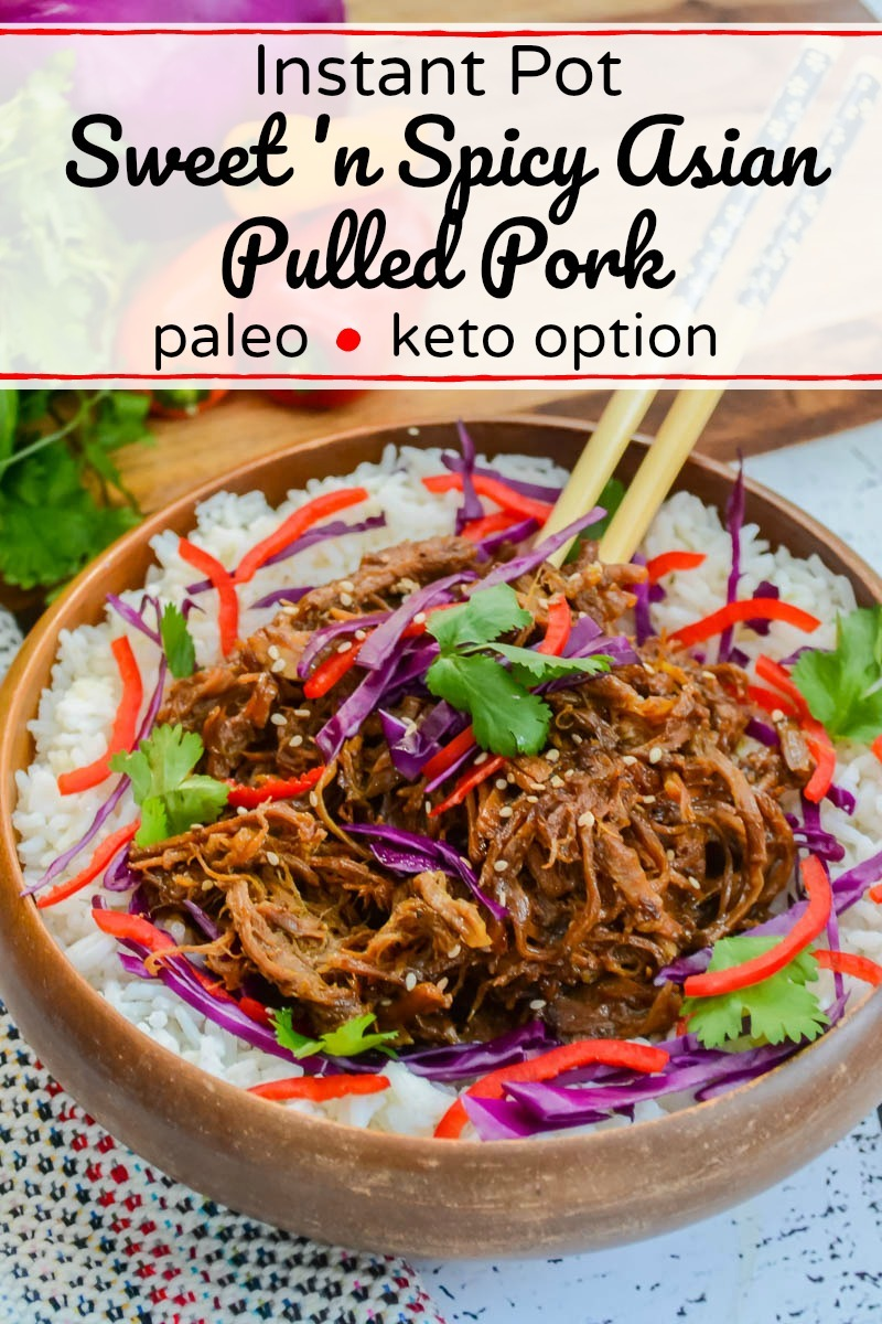 instant pot paleo pulled pork with text overlay