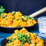 simple paleo breakfast hash with sweet potatoes and kale