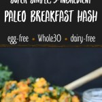 5-ingredient paleo breakfast hash with text overlay