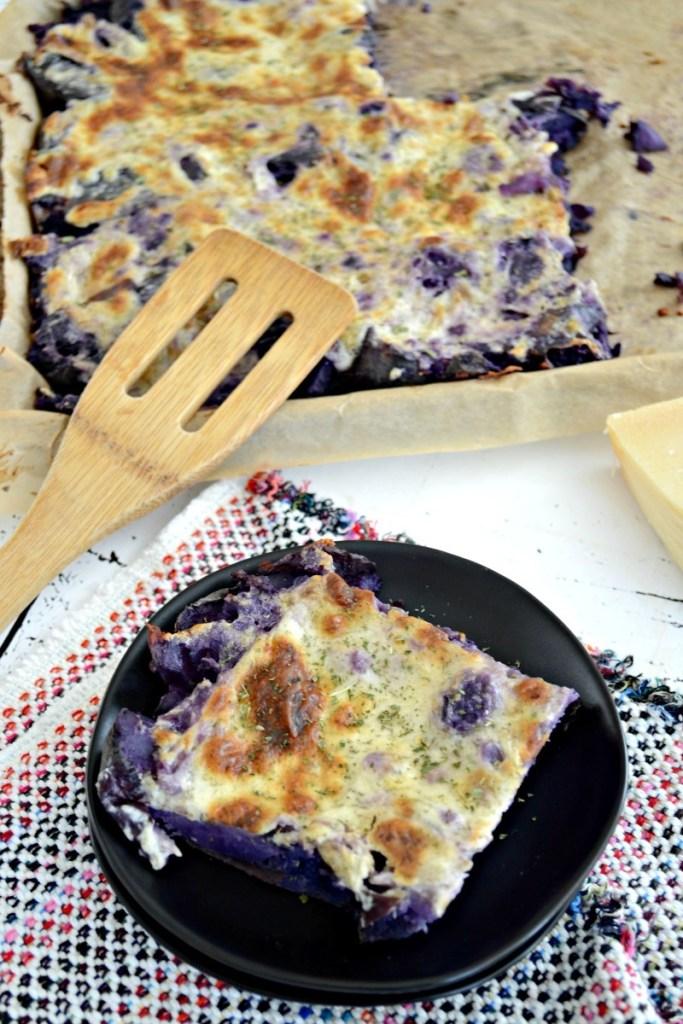 To-Die-For Garlic-Parmesan Smashed Purple Potatoes