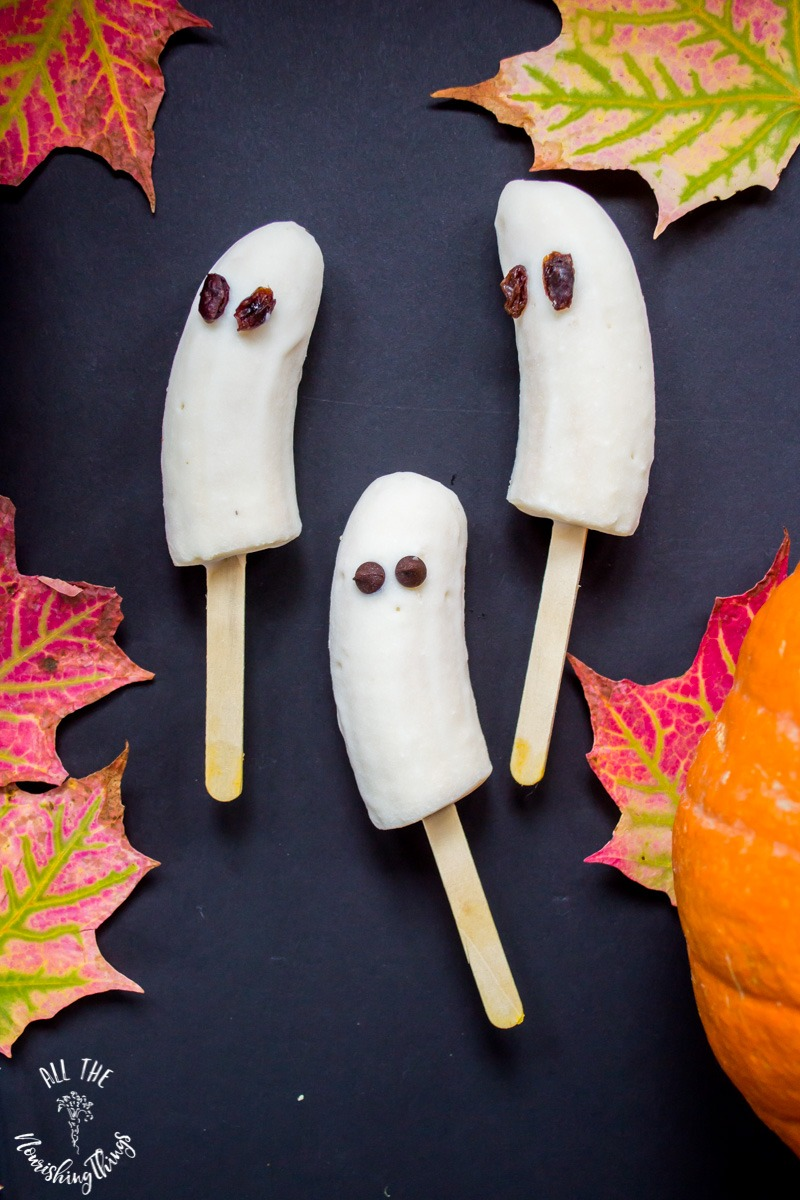 3-ingredient banana ghosts