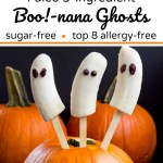 paleo banana ghosts with text overlay