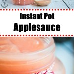 instant pot no-peel applesauce with text overlay