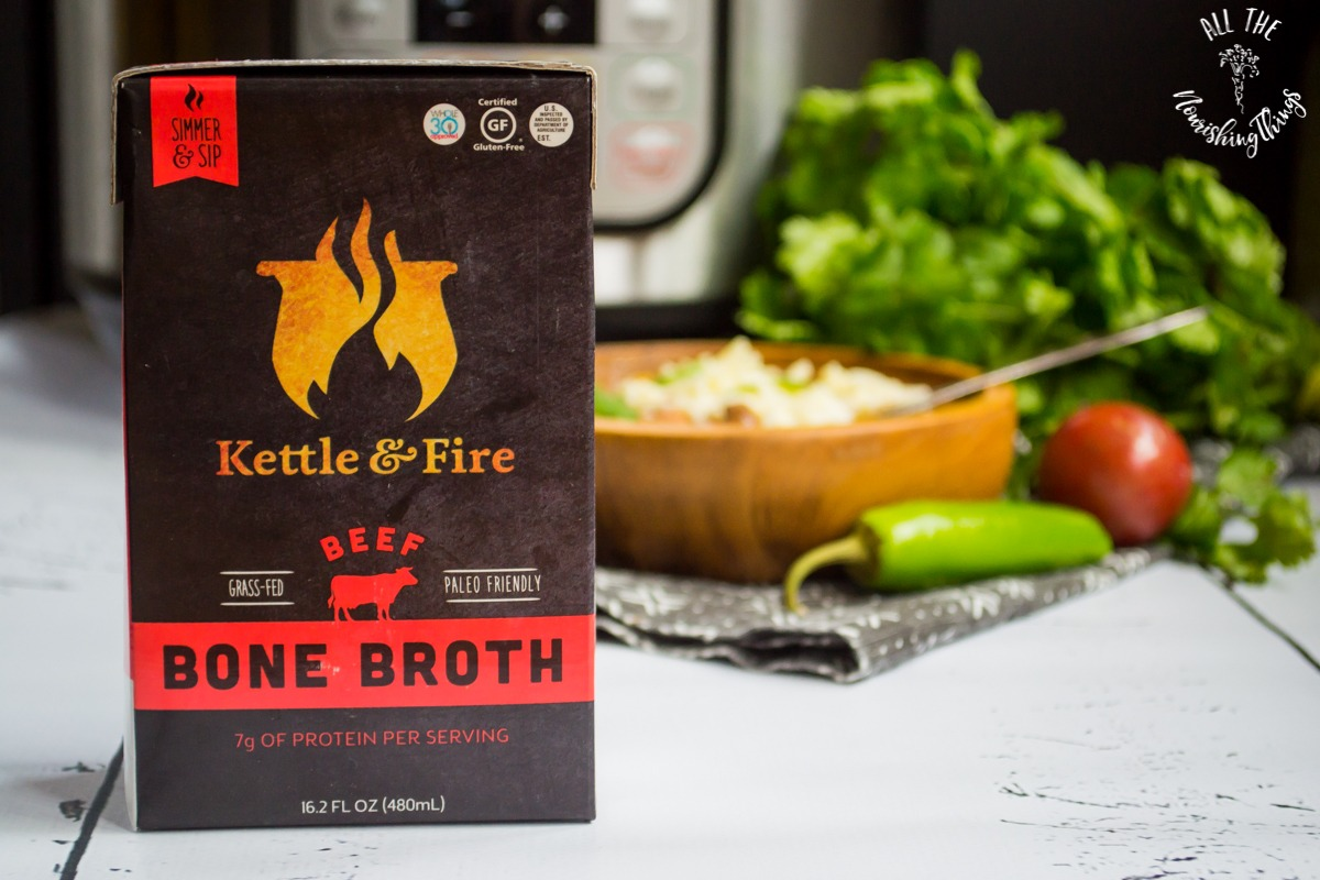 kettle & fire beef bone broth for instant pot taco soup