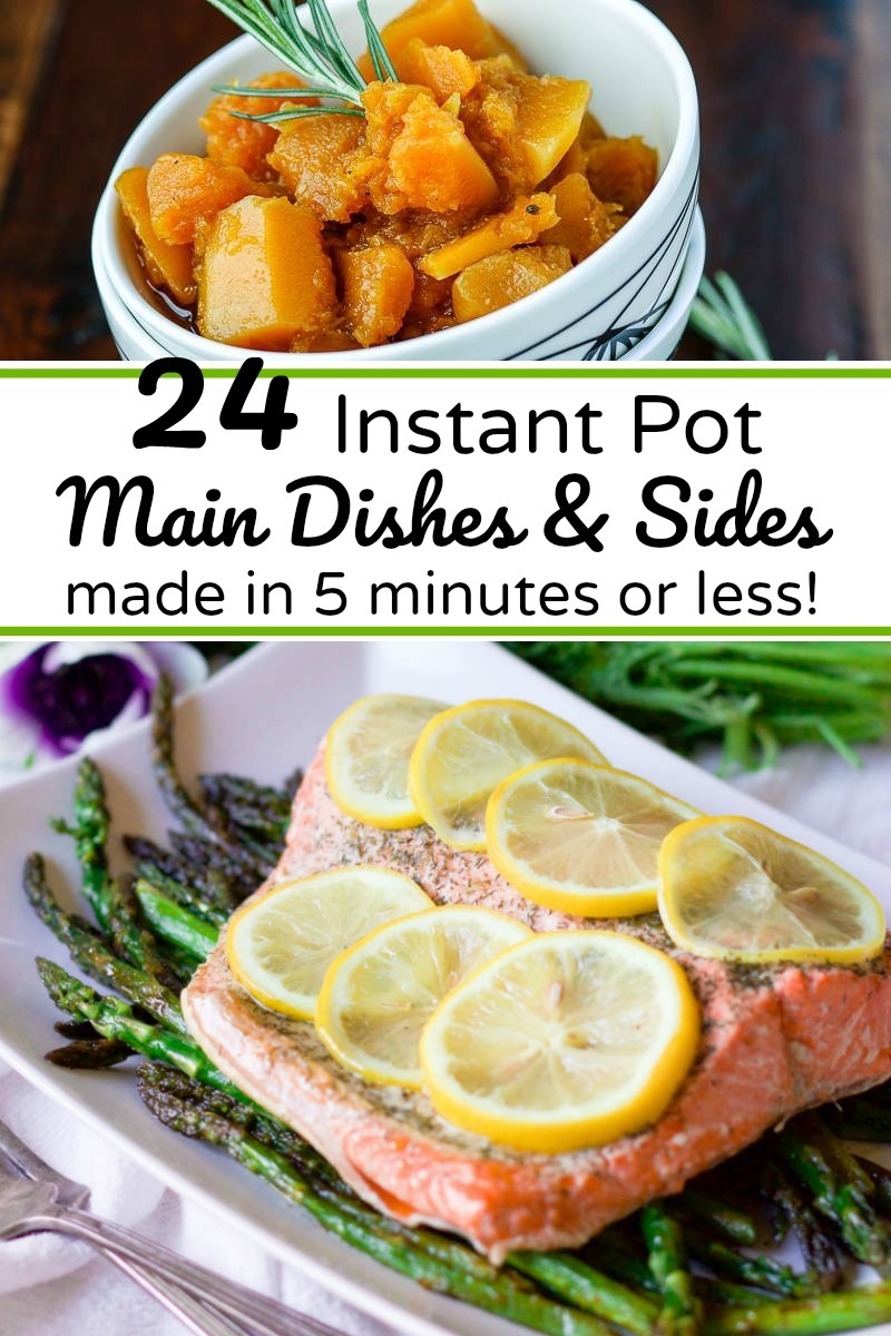 instant pot salmon and butternut squash with text overlay