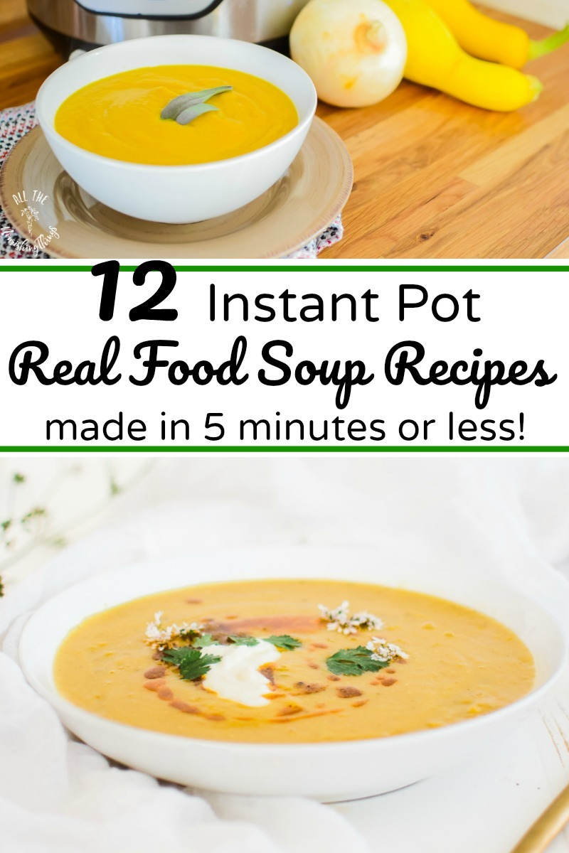yellow soups made in instant pot in 5 minutes