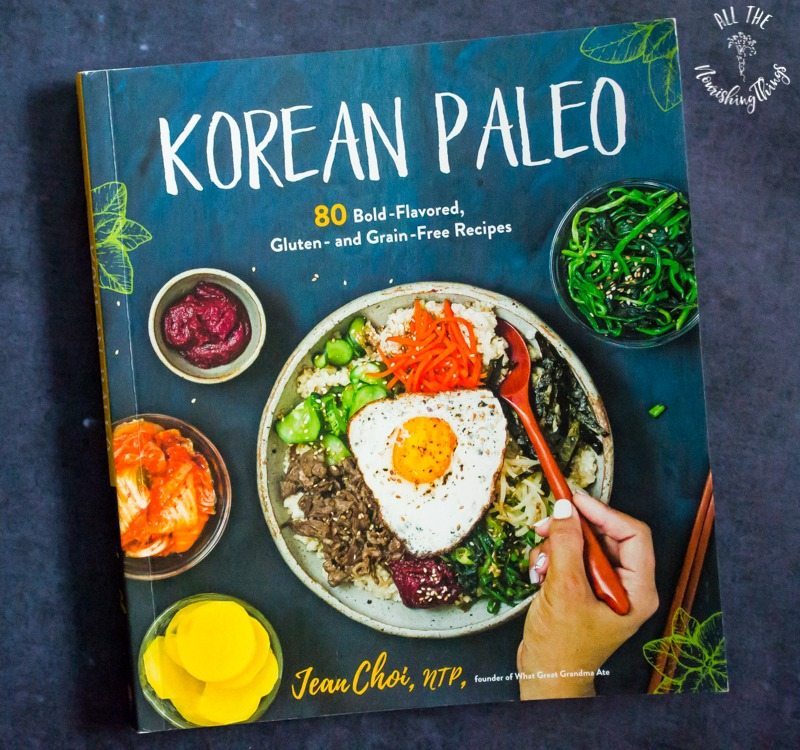 photo of the cookbook Korean Paleo by Jean Choi, NTP