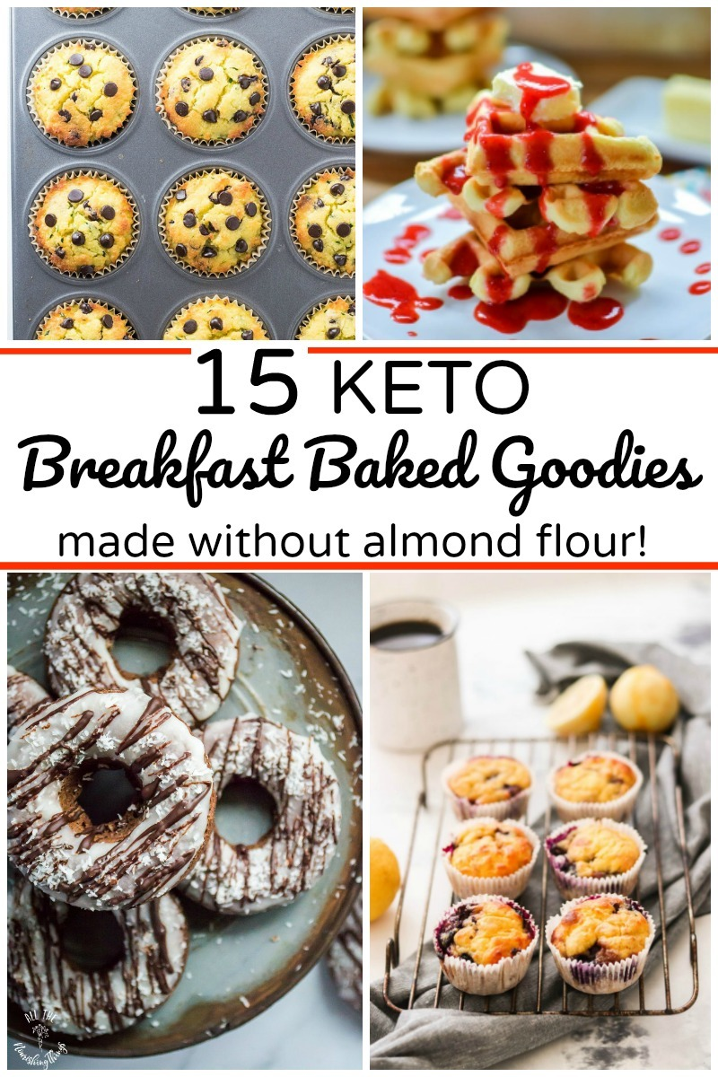 15 keto breakfast baked goods made without almond flour