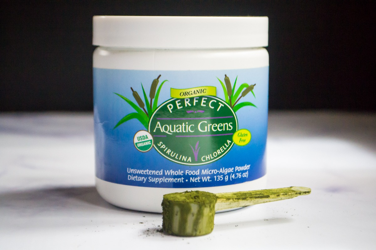 canister of perfect supplements aquatic greens for ways to support gut health while taking anti-anxiety medication