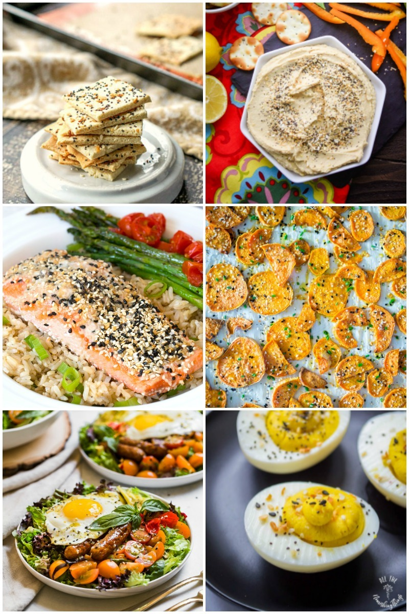 6 images of gluten-free and real food everything but the bagel seasoning recipes
