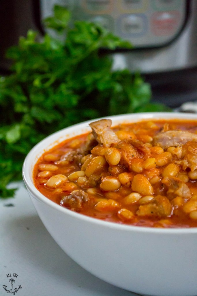 Soaked Instant Pot Pork 'n Beans (gluten-free, refined sugar-free)